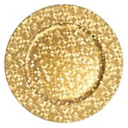 Charge It Mosaic Gold 4-pc. Charger Plate Set