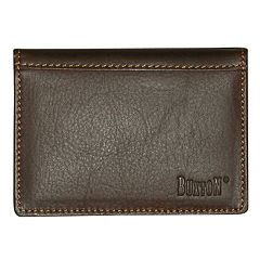 Buxton Sandokan Deluxe Leather Card Case Wallet