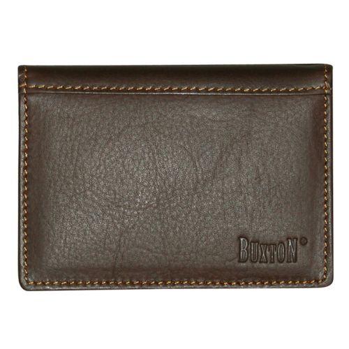 Buxton Sandokan Deluxe Leather Card Case Wallet