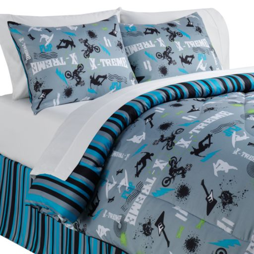 Veratex On the Edge Reversible 4-pc. Comforter Set - Queen