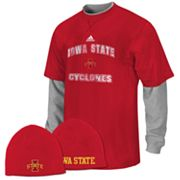 adidas Iowa State Cyclones Mock-Layer Tee and Knit Cap Set