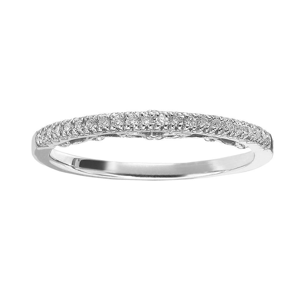 Simply Vera Vera Wang 14k White Gold 1/10-ct. T.W. Diamond Wedding Ring