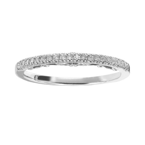 Simply Vera Vera Wang 14k White Gold 1/10-ct. T.W. Diamond Wedding Ring
