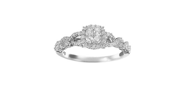 Simply Vera Vera Wang Diamond Twist Frame Engagement Ring