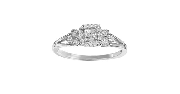 Diamond Rings For Sale Kohls: Simply Vera Vera Wang Diamond Leaf Halo Engagement Ring In