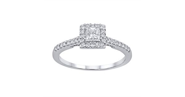 Diamond Rings For Sale Kohls: Simply Vera Vera Wang Diamond Halo Engagement Ring In 14k