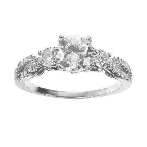 Simply Vera Vera Wang Diamond Trellis Engagement Ring in 14k White Gold (1 1/3 ct. T.W.)