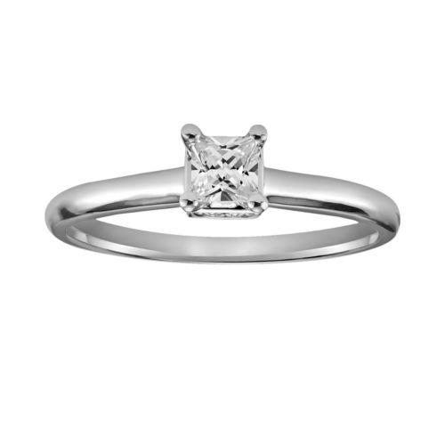 Simply Vera Vera Wang Diamond Engagement Ring in 14k White Gold (1/3 ct. T.W.)