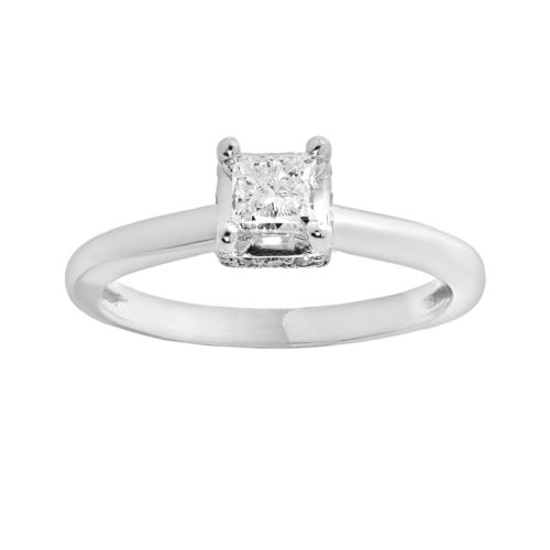 Simply Vera Vera Wang Diamond Engagement Ring in 14k White Gold (5/8 ct. T.W.)