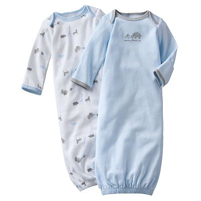 Carter's 2-pk. Striped and Safari Animal Sleeper Gowns - Baby
