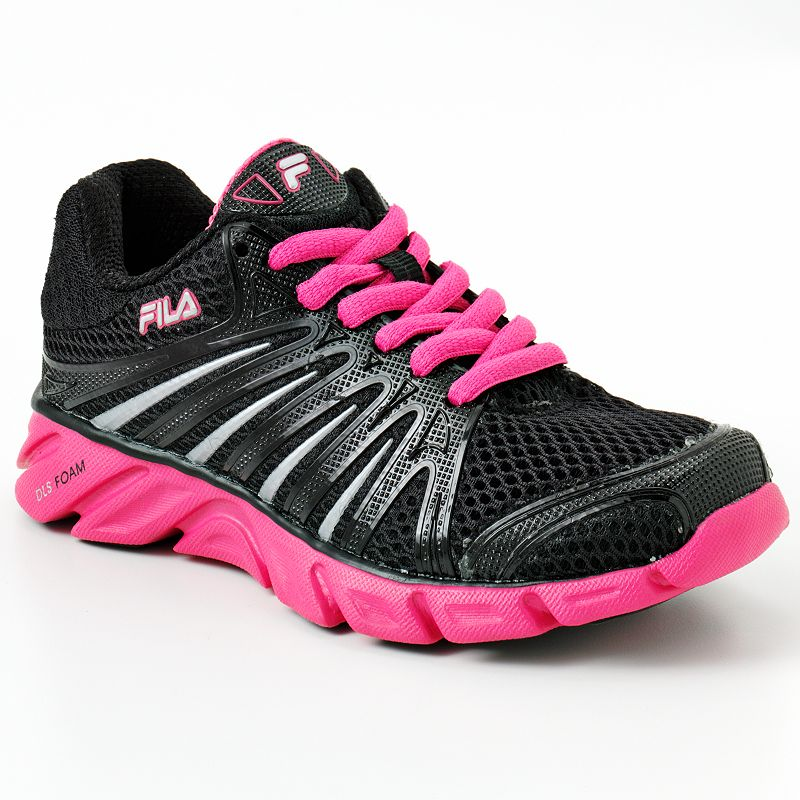 30a0acc0bfd4 Details about NEW-FILA Black  Hot Pink  Silver CoolMax Swyft Running Shoes  Girls Youth 3.5- 45