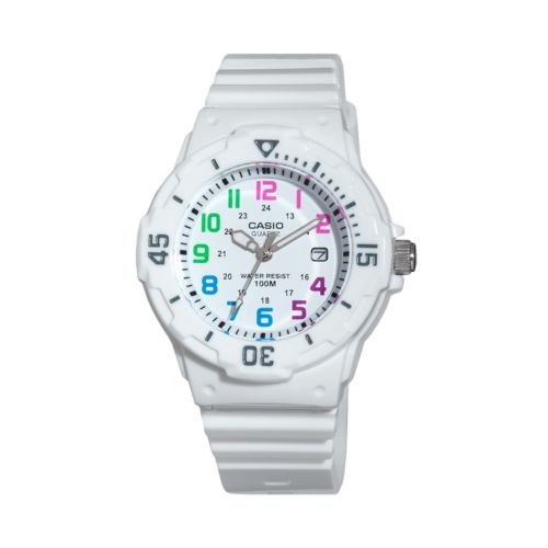 Casio White Resin Watch - LRW200H-7BVCF - Women