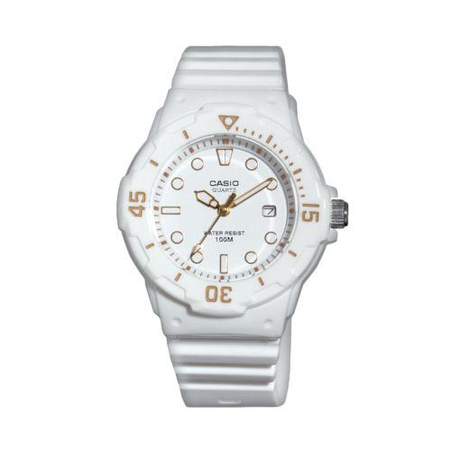 Casio White Resin Watch - LRW200H-7E2VCF - Women