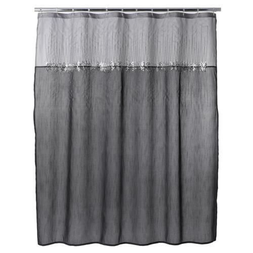 Home Classics® Moonlit Fabric Shower Curtain