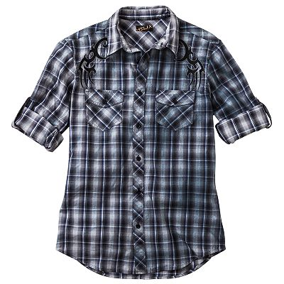 Helix Plaid Tribal Shirt