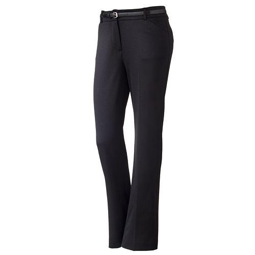 212 Collection Straight-Leg Ponte Pants