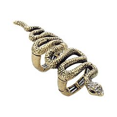 Mudd® Gold Tone Simulated Crystal Snake Stretch Ring