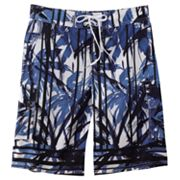 Beach Rays Palm Tree E-Board Shorts