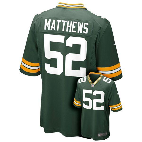 Boys 8-20 Nike Green Bay Packers Clay Matthews NFL Jersey