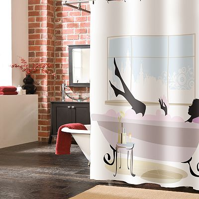 Veratex Spa Girl Fabric Shower Curtain