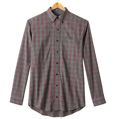 Arrow Tartan Plaid Casual Button-Down Shirt - Big and Tall
