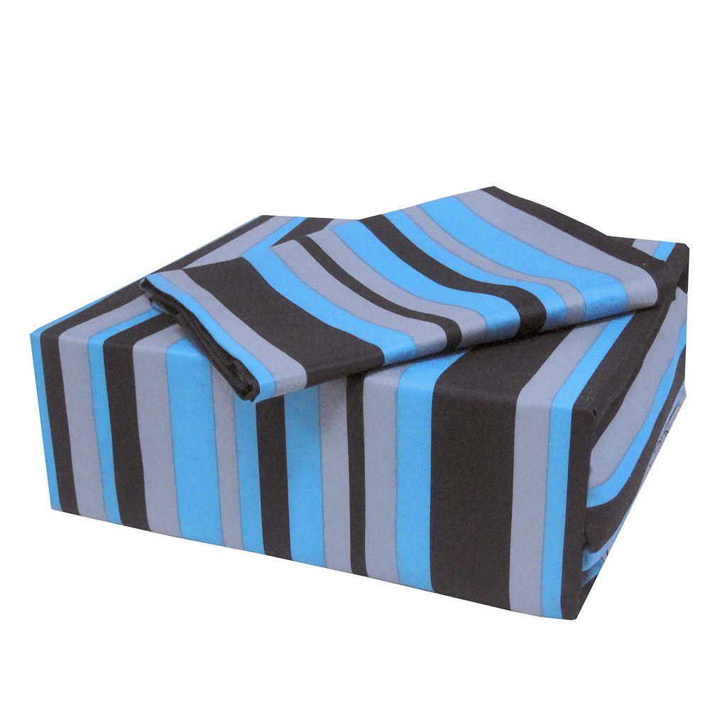 Veratex On the Edge Striped Sheet Set - Full