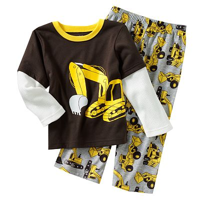 Carter's Mock-Layer Construction Pajama Set - Toddler