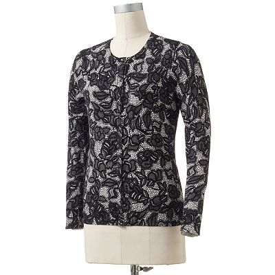 Croft and Barrow Essential Floral Cardigan