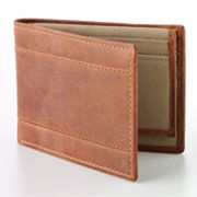 Croft and Barrow Crazy Horse Bifold Passcase Wallet