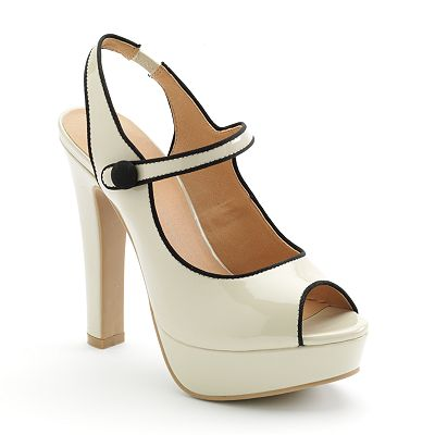 LC Lauren Conrad Peep-Toe Platform High Heels - Women