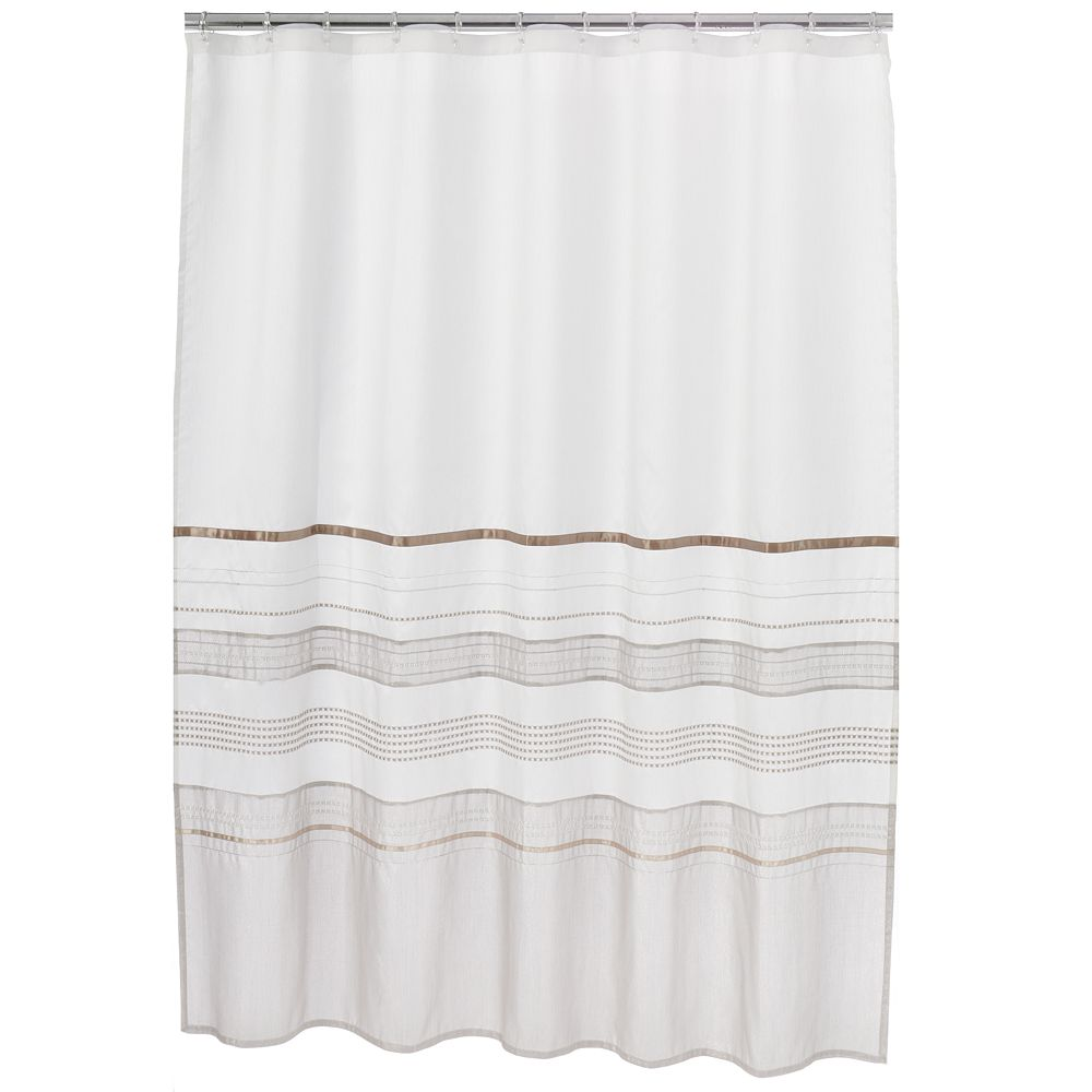 Classics® Shimmer Fabric Shower Curtain