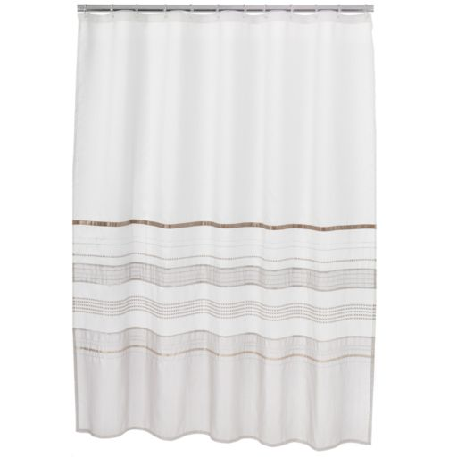 Home Classics® Shimmer Fabric Shower Curtain