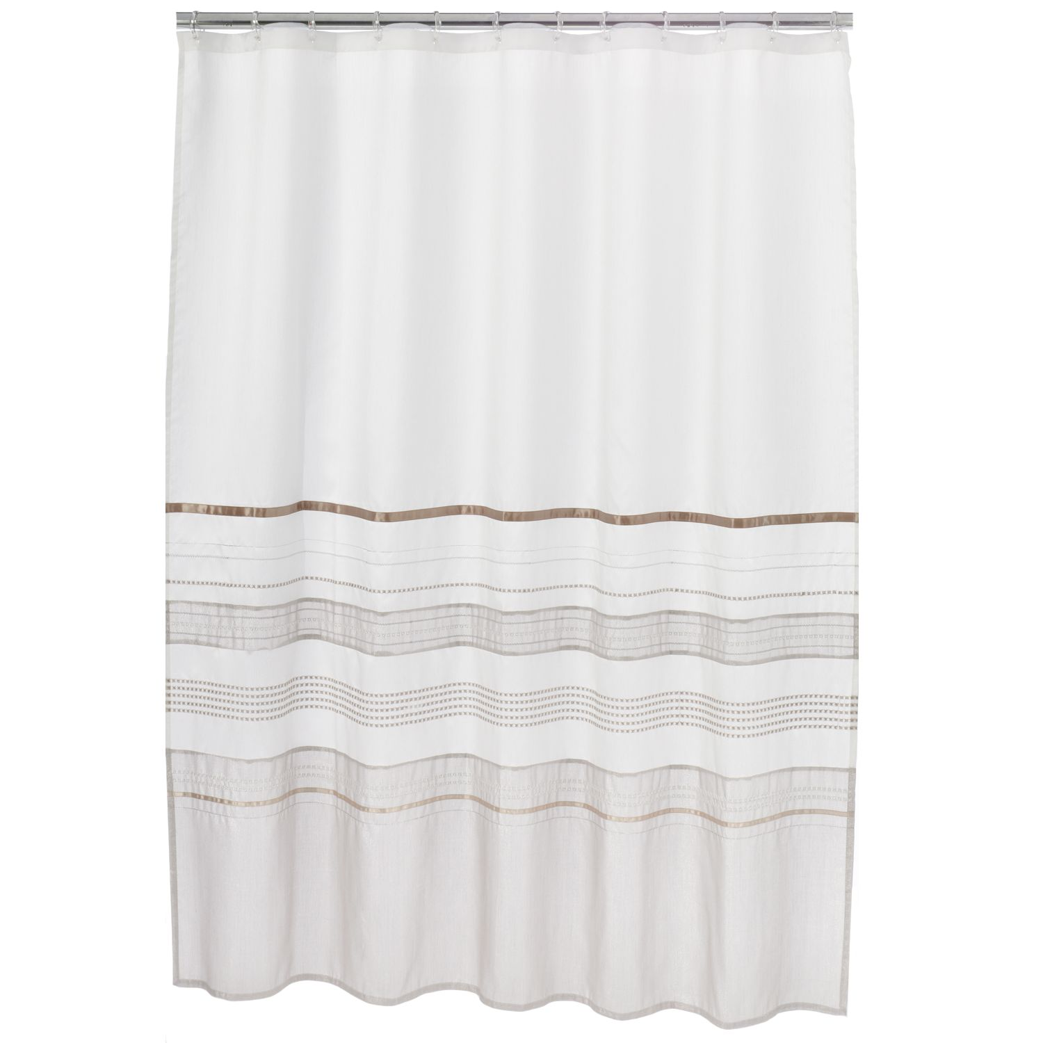 home classics shimmer fabric shower curtain