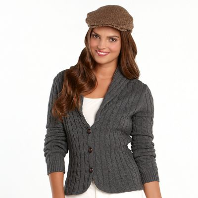 Chaps Cable-Knit Cardigan