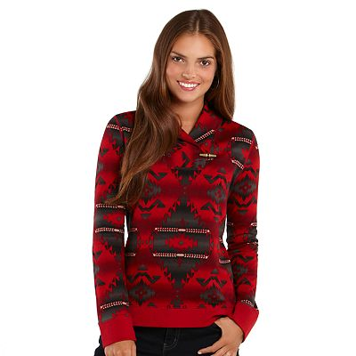 Chaps Southwest Shawl-Collar Top