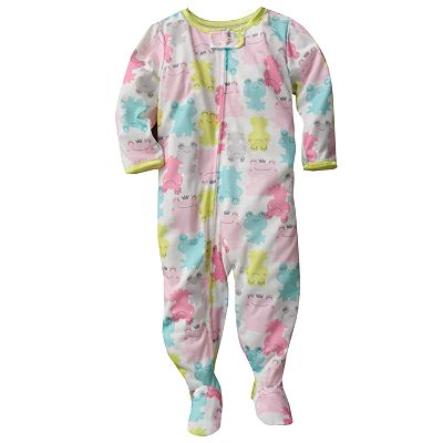Carter's Frog Footed Pajamas - Baby