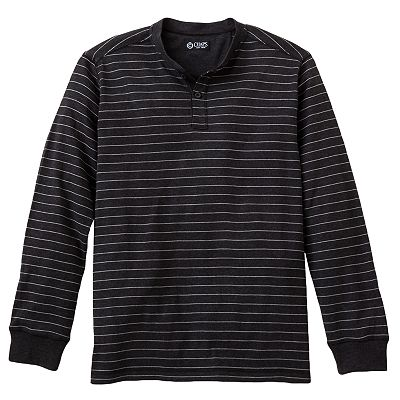 Chaps Slim Custom-Fit Striped Henley