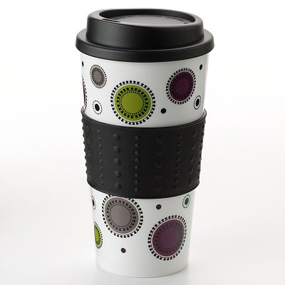Tossed Dots Travel Mug