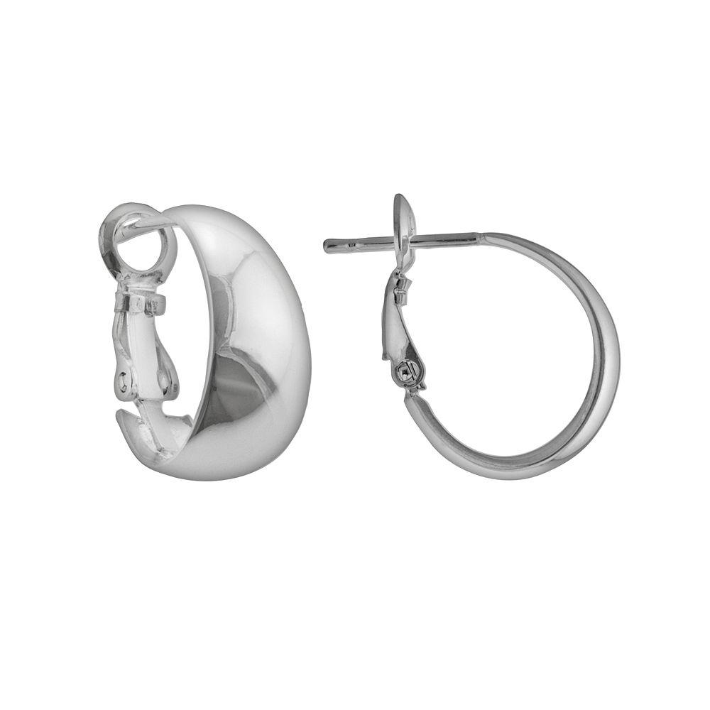 Silver Plated J-Hoop Earrings