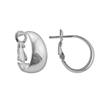 Silver Plated J-Hoop Earrings