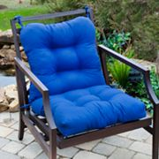 Solid Outdoor Seat/Back Chair Cushion