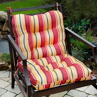 Fiesta Striped Outdoor Seat/Back Chair Cushion