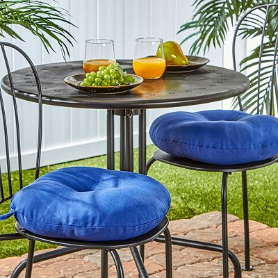 Solid 2-pk. Outdoor Round Chair Cushions - 15""