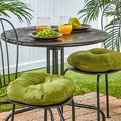 Greendale Home Fashions Solid 2 pkOutdoor Round Chair Cushions - 15'