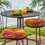 Greendale Home Fashions Solid 2-pk. Outdoor Round Chair Cushions - 15""