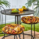 """Greendale Home Fashions Solid 2 pkOutdoor Round Chair Cushions - 15"""""""