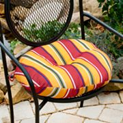 Fiesta Striped 2-pk. Outdoor Round Chair Cushions - 18""