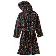 SO Leopard Plush Robe - Girls
