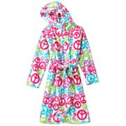 SO Peace Plush Robe - Girls