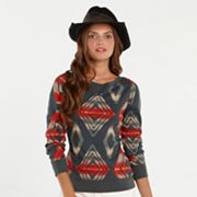 Chaps Southwestern Thermal Top - Petite